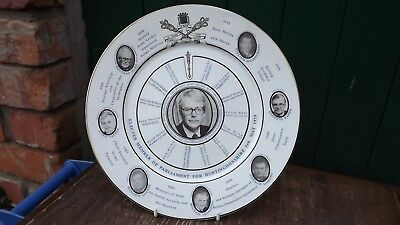 1990 John Major Election Plate Portraits of Cabinet Full Detail Only 250 Made