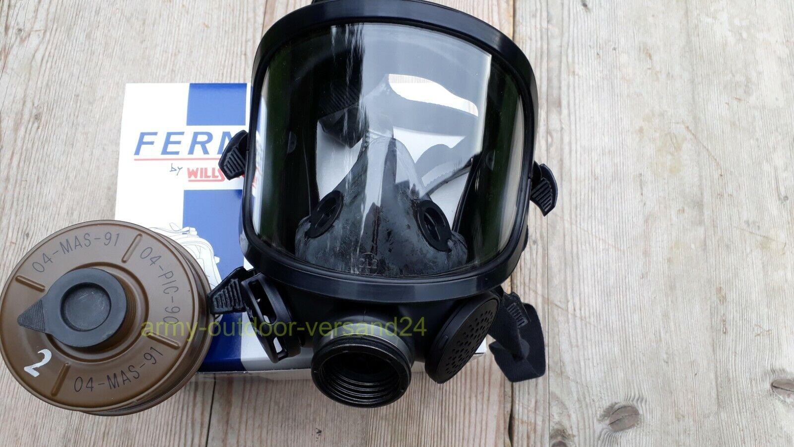 Schutzmaske Vollgesichtsmaske Atemschutz Gasmaske ABC Schutz Armee Fernez Filter