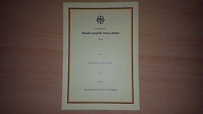 Original Bundeswehr BW BRD Blanko Urkunde Beförderung / Ernennung NEU
