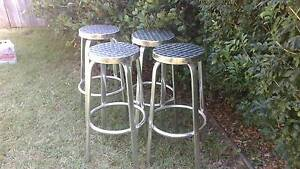 brushed aluminium set of 4 high stools Northbridge Willoughby Area Preview