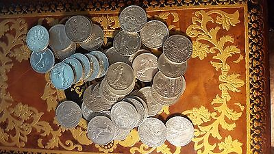 50 kopek poltinnik 1924 USSR silver lot different conditions.