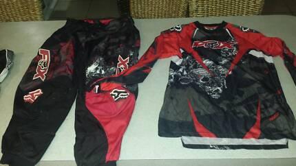 Mens motocross pants and shirt