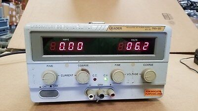 Leader 760-3d Regulated Dc Power Supply 60v 3a