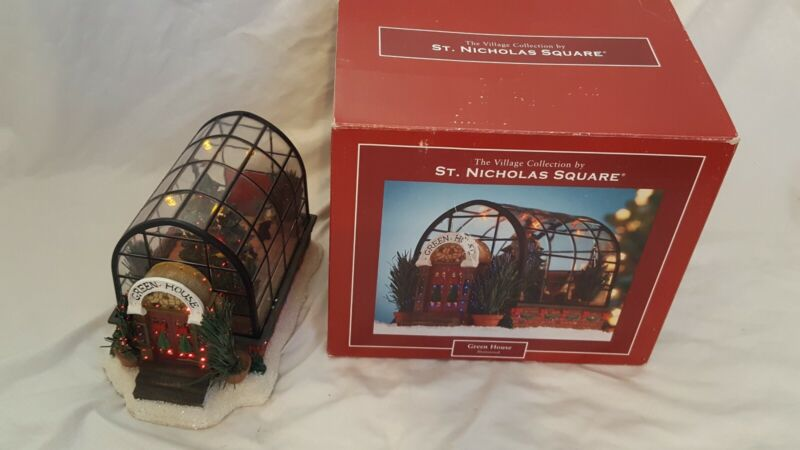 St Nicholas Square GREENHOUSE CHRISTMAS HOUSE - Lighted Village Collection