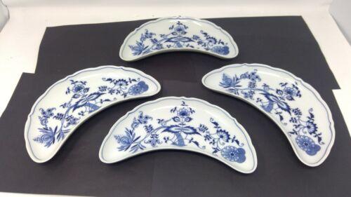 "Set of 4 Blue Danube 9"" Crescent Salad Plates"