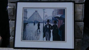RARE-PRINT-FROM-1887-PAINTING-LONDON-STREET-SCENE-SIGNED-FRAMED-WITH-GLASS