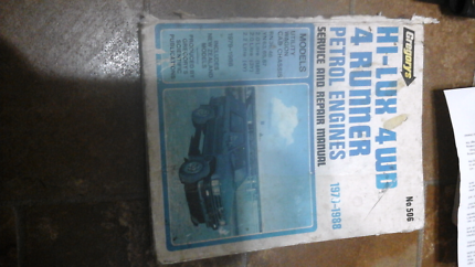 Hilux 4wd 4 runner 1979 to 1988 repair manual North Richmond Hawkesbury Area Preview