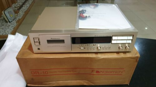 NEW Old stock NAKAMICHI DR10 Gold Cassette Tape Deck Vintage DR-1 Champagne
