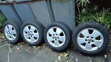 Rims to suit Holden Astra G - 5 x 110 stud pattern - 195/60/R15 Brunswick West Moreland Area Preview