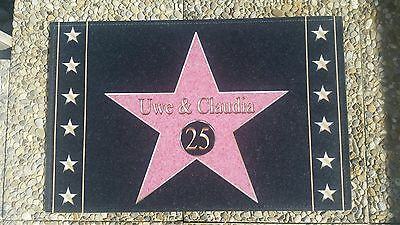 walk of fame fussmatte 67x44 fussabstreifer name symbol wunschtext ebay. Black Bedroom Furniture Sets. Home Design Ideas