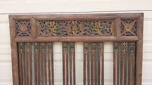 LARGE CARVED BALINESE FEATURE PANEL, 1.5 MTS HIGH ! Greenslopes Brisbane South West Preview
