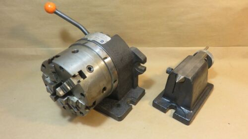 """Cushman Hartford 5"""" Super Spacer Indexing Dividing Head With Tailstock 5C90"""