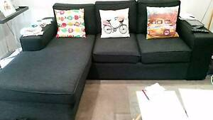 3 seater with chaise, 2 seater & ottoman (will sell separately) Mascot Rockdale Area Preview