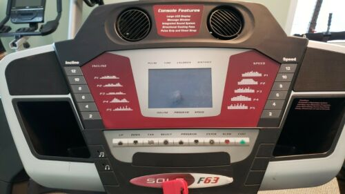 Sole Fitness F63 Treadmill, Model SZ10, with only 1228 Miles!