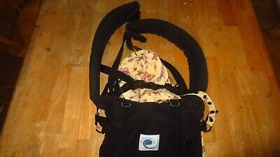 Genuine Ergo Baby Carrier Original Black Tan EXCELLENT condition SHIPS SAME DAY.