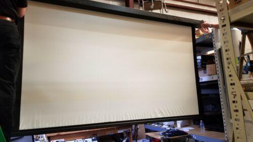 """Pre-owned Draper Premier Motorized Projection Screen 114"""" W ---Great deal!!"""