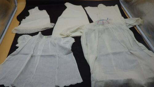 Antique Vintage Christening Baptism Gowns & Slips Lace Baby Doll Dress Sheer