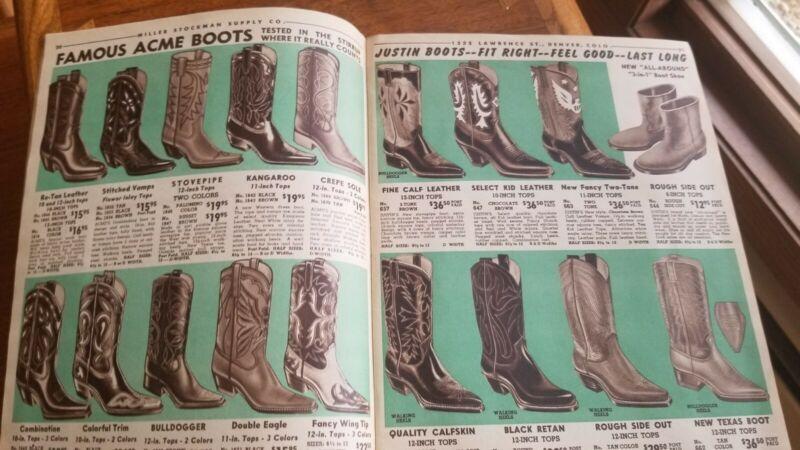 Vintage 1956 Cowboy Ranch Supply catalog Levi