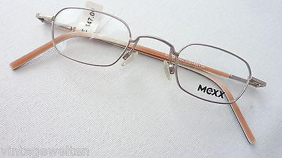 Mexx Kinderbrillen für Jungen u. Mädchen silberfarben eckig Federbügel neu Gr. K