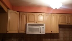 White maple kitchen cabinets