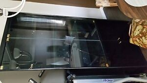 Black and glass display cabinet
