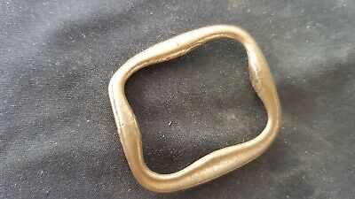 Superb Tudor bronze buckle sympathetically cleaned found in England L130a