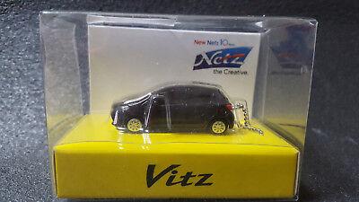 TOYOTA Vitz LED Light Keychain Black Pull Back Mini Car Not Sold in stores