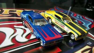 HOT WHEELS N Carter Super Chief and Hawaiian 1970 DODGE CHARGER  NHRA Drag Race