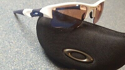 Oakley Flak White Wrap Sunglasses Rubber Lined Case Otter Gold (Oakley Sunglasses Gold Lens)
