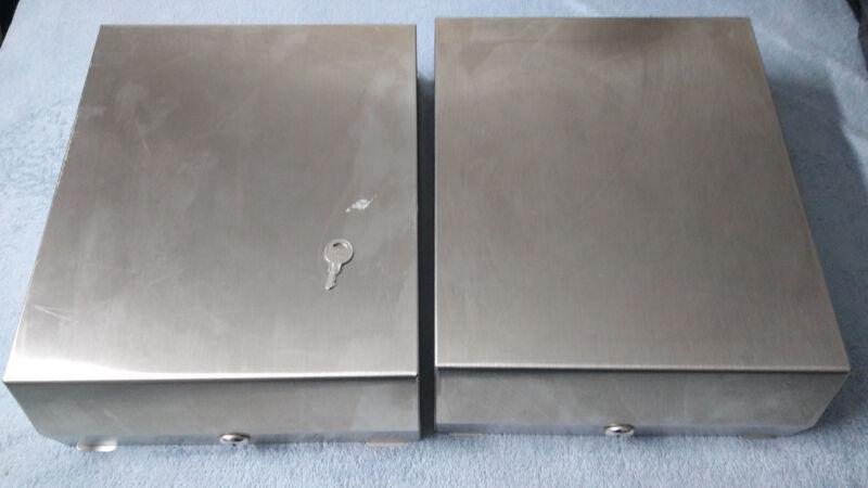 Folded Towel Dispenser - Brushed Steel