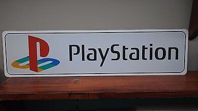 "Playstation Logo Aluminum Sign  6"" x 24"""
