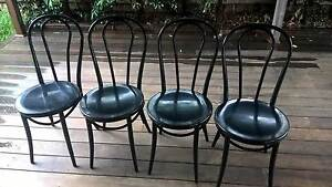 4 Steel outdoor chairs - AS NEW Melton South Melton Area Preview