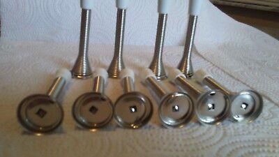 flexible door stop 3''  bell type  satin nickel for all doors with screws ()