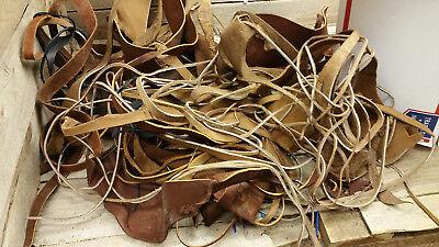 Разное 5-6 oz tanned leather scraps