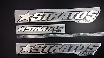 "Stratos Boats Emblem 22"" black chrome + FREE FAST delivery DHL express- stickers"
