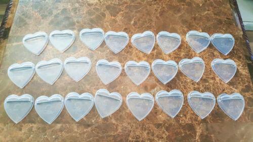 Vintage Knickerbocker Heart Shape Clear Plastic Doll Stands LOT of 24