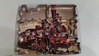 Train Tin  Cookie Cutter 8PC Set - Cutter Tin Set
