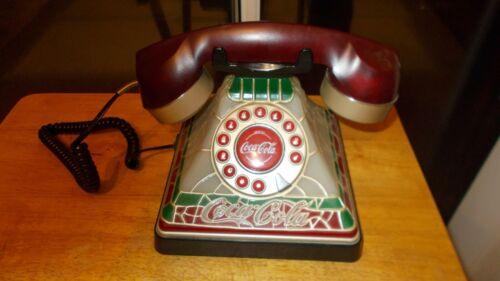 Coca Cola Tiffany Style Telephone Collectors Item