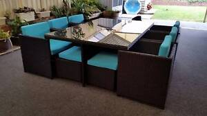Back in Stock! Stunning Outdoor Wicker 10 Seater Dining Set Wangara Wanneroo Area Preview