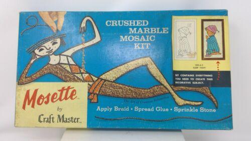 Vintage 1962 Mosette by Craft Master Crushed Marble Mosaic KIT - NIP