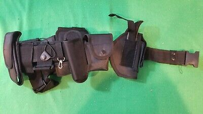 New Black Full Tactical Police Security Utility Belt Wholster Nylon