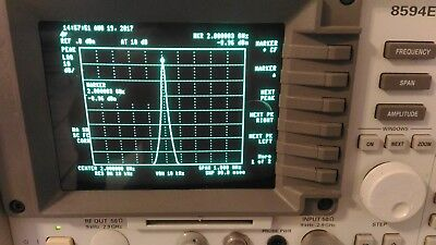 Hp Agilent 8594e -004-041 Spectrum Analyzer 9khz To 2.9 Ghz Calibrated.