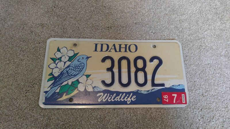 Idaho collector license plate. LOW #/excellent condition!