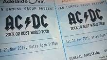 2 x AC/DC Adelaide Oval GA Standing Tickets Rapid Creek Darwin City Preview