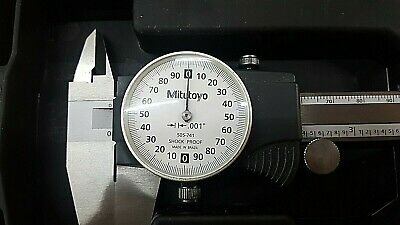 505-741 Mitutoyo Dial Caliper 8 W Case Preowned No Owner Branding