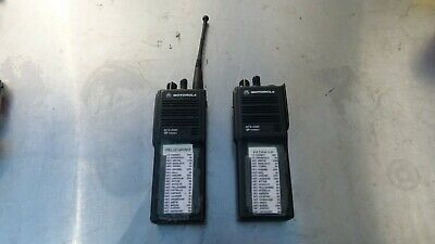 Lot Of 2 Motorola Mts 2000 Flashport Handie-talkie Fm Radio H01sdd9pw1bn 2