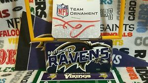 NFL Baltimore Ravens metal license plate ornament by Forever Collectibles  *New*