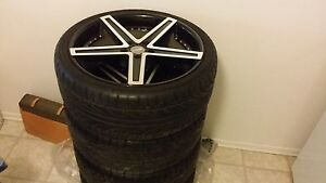 Like new 20 inch rims with low pro tire