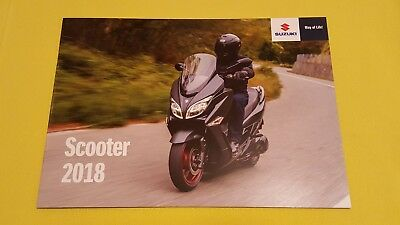 Suzuki Scooter Burgman 650 Executive Address motorcycle sales brochure 2018 MINT