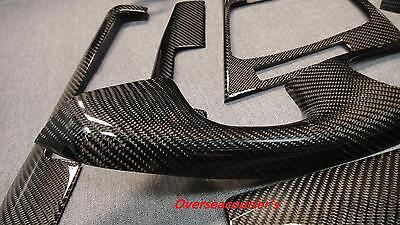 For BMW E46 M3 Coupe Model Only Carbon Fiber Interior Trim Dash 8 Pieces Kit for sale  Shipping to Canada